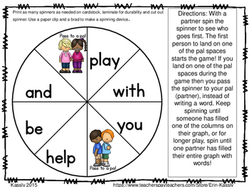 Best Buds Back to School Common Core Literacy Centers - What is a Pal?