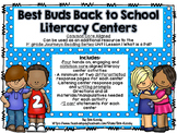 Best Buds Back to School Common Core Literacy Centers - Wh