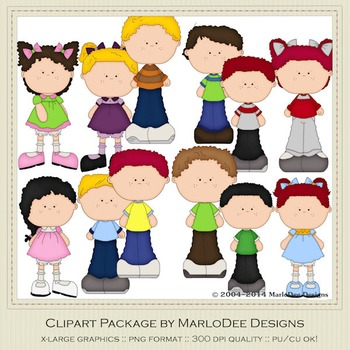 Best Buds Clip Art Graphics Set 1 by MarloDee Designs