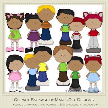 Best Buds Clip Art Graphics Set 2 African American Children