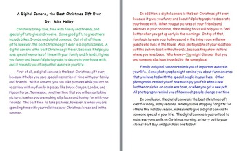 best christmas gift ever persuasive essay example - Examples Of Persuasive Writing Essays