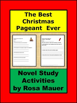 The Best Christmas Pageant Ever Book Unit