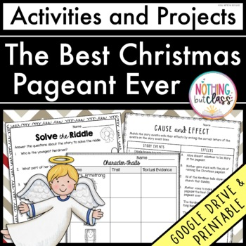 The Best Christmas Pageant Ever: Reading Response Activiti