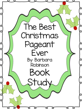 Best Christmas Pageant Ever Book Study