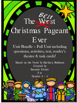 Best Christmas Pageant Ever Literature Unit Bundle