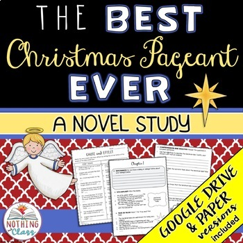 Best Christmas Pageant Ever Novel Study: comprehension, vocab, activities, tests