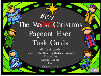 Best Christmas Pageant Ever Task Cards