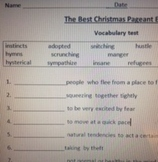 Best Christmas Pageant Ever Vocabulary test
