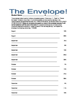 The Envelope- Graded and important paper return system! (editable)