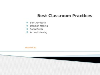 Best Classroom Practices Power Point