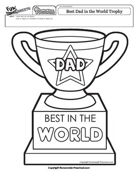 Father's Day: Best Dad in the World Trophy