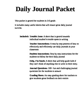 Best Daily Journal for 3-6 grade