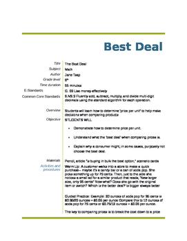 Best Deal : Buying in Bulk