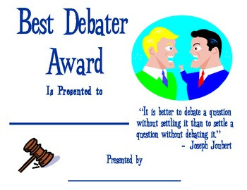 Best Debater Award