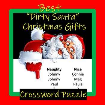 Best Dirty Santa Christmas Gifts Crossword By Chuck Nolen S Notables
