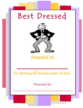 Best Dressed Award (male)