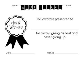 Best Effort Award -  FREEBIE