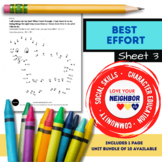 Best Effort - Sheet 3, Connect the Dots, Take Your Time and Do Your Best, Sheep