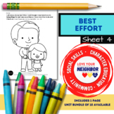 Best Effort - Sheet 4, Color the Picture Taking Your Time and Doing Your Best
