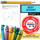 Best Effort - Sheet 6, Connect the Dots, Take Your Time & Use Best Effort, Whale