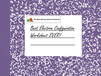 Best Electron Configuration and Energy Diagram Worksheet Ever!