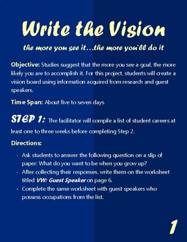 Best End-of-the-Year Project: Write the Vision