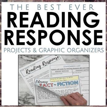 Best Ever Reading Response for Secondary ELA