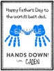 """Best Father """"Hands Down"""" FREE Printable"""