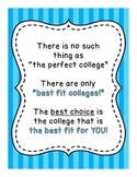 Best Fit College / Choosing A College School Counseling Poster - 3 Designs