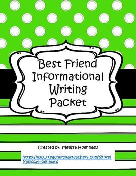 Best Friend Informational Writing