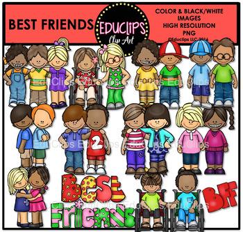 Best Friends Clip Art Bundle {Educlips Clipart}