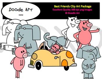 Best Friends Clipart Pack
