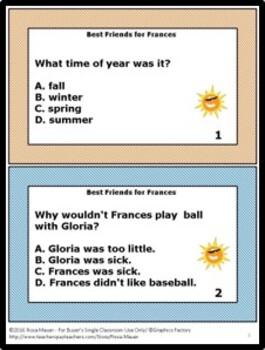 Best Friends for Frances Literacy Unit