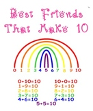 Best Friends that Make 10 Printable Rainbow - Common Core Math - K, 1, & 2