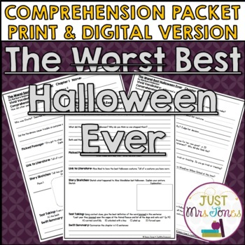 The Best Halloween Ever Comprehension Packet