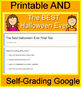 The Best Halloween Ever Quiz and Test Bundle Common Core Aligned