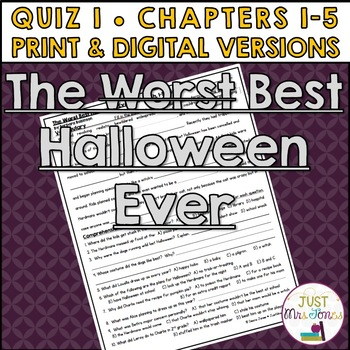 The Best Halloween Ever Quiz 1 (Ch. 1-5)
