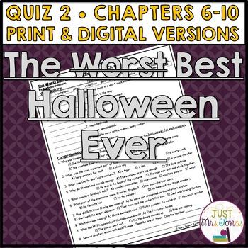 The Best Halloween Ever Quiz 2 (Ch. 6-10)
