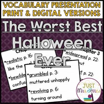 The Best Halloween Ever Vocabulary Presentation
