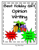 Holiday Opinion Argument Persuasive Writing * Graphic Organizer & Template