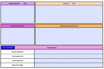 Best Lesson Plan Template (PDF Fillable & MS Word)