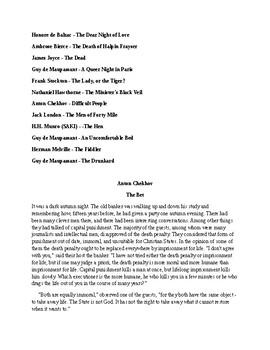 Best Loved Short Stories