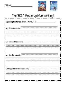 Best Movie Opinion Graphic Organizer- Frozen or Lego