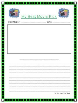 Recount Writing - Best Movie Picks