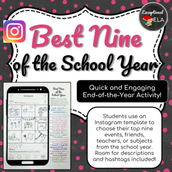 Best Nine of the School Year: End of the Year Activity for Secondary Students