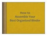 Best Organized Binder System