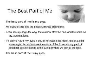 Best Part of Me : Freeverse Poem