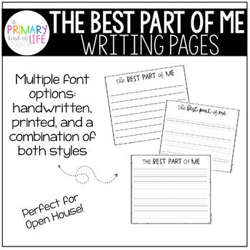 Best Part of Me Writing Pages - FREEBIE!