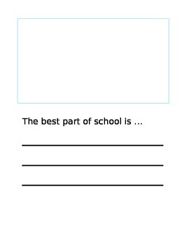 Best Part of School Book Page Template