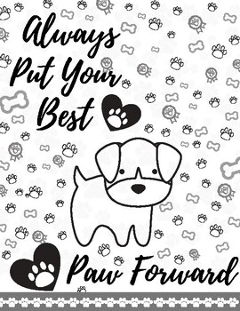Best Paw Forward Poster and Coloring Sheet
